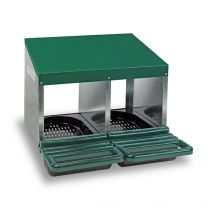 Nesting Box – Metal Closed Rollaway (Double Hole)