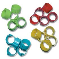 Poultry Leg Rings 15mm - Suit Standard Fowl 24 Pack