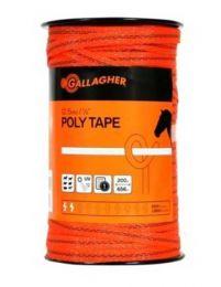 Gallagher 12.5 mm Orange Poly Tape 200m