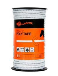 Gallagher 12.5 mm White Poly Tape 200m