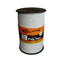 Gallagher Heavy Duty 12.5 mm White Poly Tape 400m